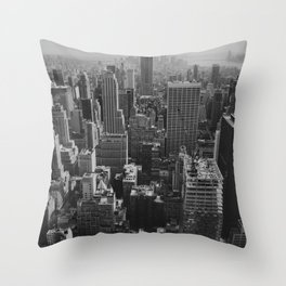 New York City Print Throw Pillow