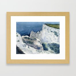 On Top of the Cliffs 1 Framed Art Print