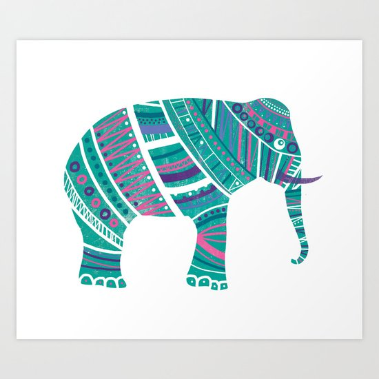 Indian Elephant No.2 Art Print