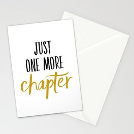 Just One More Chapter Stationery Cards