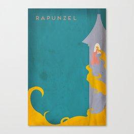 Rapunzel Minimalist Fairytales Canvas Print