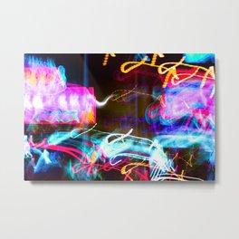 Drunk City Lights Metal Print