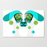 gemini Canvas Prints featuring Gemini by Akwaflorell