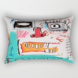 Basquiat Famous Rectangular Pillow