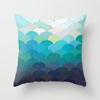 teal Throw Pillows featuring Teal by Julia Alison