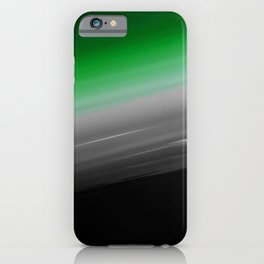 Green Gray Black Ombre iPhone Case
