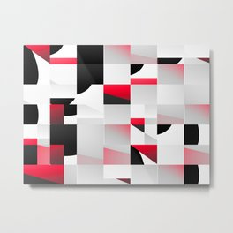 red and black Metal Print
