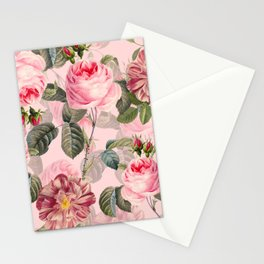 Vintage & Shabby Chic - Summer Roses Flower Garden Stationery Cards