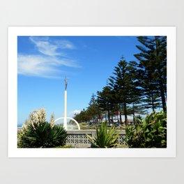 Gilray Fountain, Napier (New Zealand Collection) Art Print