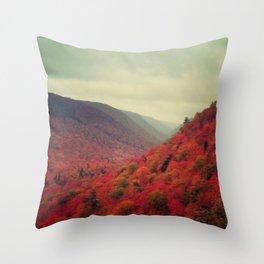 Landscape Photograph - Cape Breton Island, Red Decor Throw Pillow