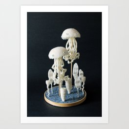 Paleozoic Sea Creature: jellyfish Art Print