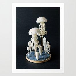 Paleozoic Sea Creature: jellyfish Art Print