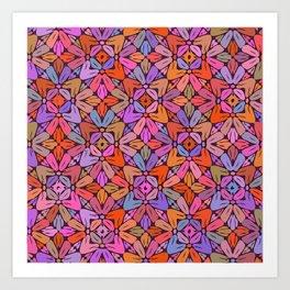 Multi-coloured pattern 1 Art Print