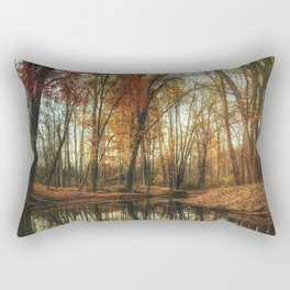 Leaves Are Falling Autumn Is Calling Rectangular Pillow