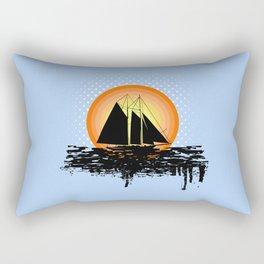 Grunge sailing Rectangular Pillow