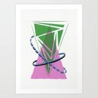 Orbital Triangularity Art Print