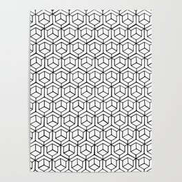 Hand Drawn Hypercube Poster