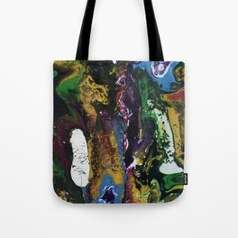 Searching For Gold - Original, abstract, fluid, acrylic painting Tote Bag