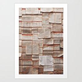 Open Books Library Bookworm Reading Art Print
