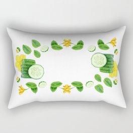 Cucumber and Mint Rectangular Pillow