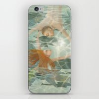 little mermaid iPhone & iPod Skins featuring Little Mermaid by Fizzyjinks