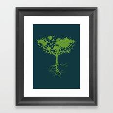 Earth Tree Framed Art Print