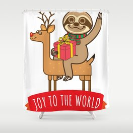 Sloth Joy Shower Curtain