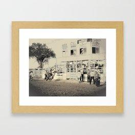 Ox Jobbing Framed Art Print