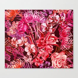 Hot Moody Floral Canvas Print