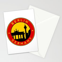 Berlin, circle, sticker Stationery Cards