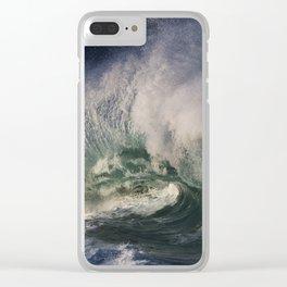 Winter Waves At Waimea Bay 9 Clear iPhone Case