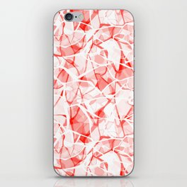 White red abstract iPhone Skin