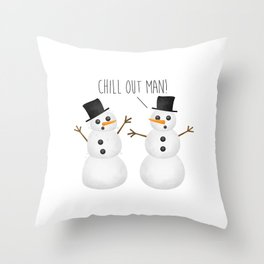Chill Out Man! Throw Pillow