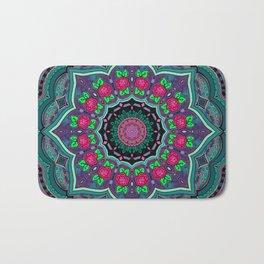 Mandala Project 608   Purple Watercolor Background Bath Mat