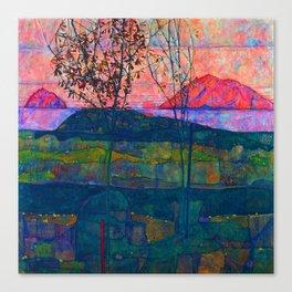 Egon Schiele Setting Sun Canvas Print