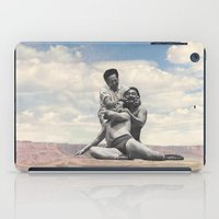 wrestling iPad Cases featuring Pink Rocks Wrestling by Neil Campau