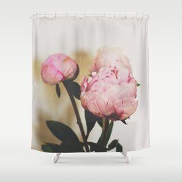 Pale Peonies Shower Curtain