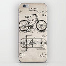 Bike Patent - Bicycle Art - Antique iPhone Skin