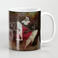 noir Mugs featuring noir by michael lombardi