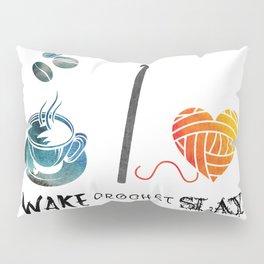 Wake Crochet Slay - Fiber Arts Quote Pillow Sham