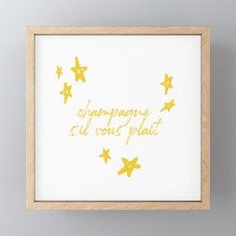 champagne Framed Mini Art Print