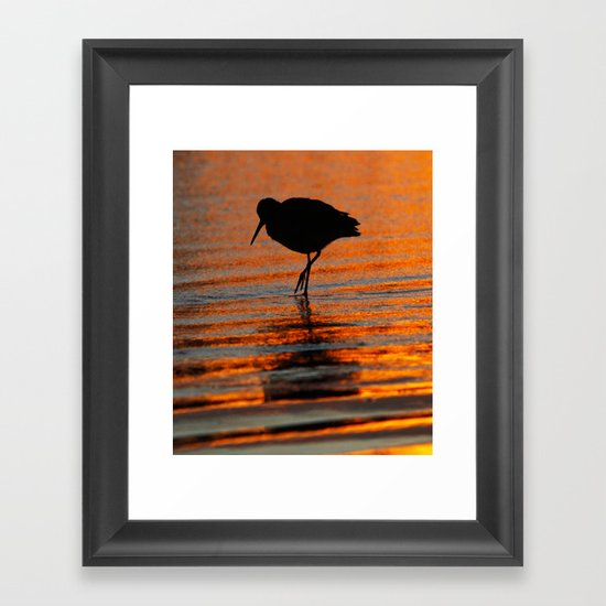 Huntington Beach Wall Decor : Sandpiper sunset huntington beach ca framed art print by