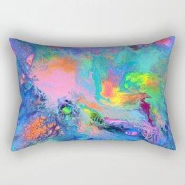 Fusion - Fluid Abstract Art Rectangular Pillow
