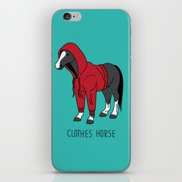 Clothes Horse Red iPhone Skin