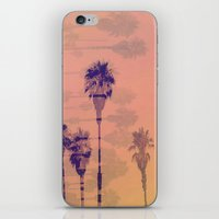 santa monica iPhone & iPod Skins featuring Santa Monica Palms by Nina May Designs