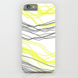 Yellow & Greay decor iPhone Case