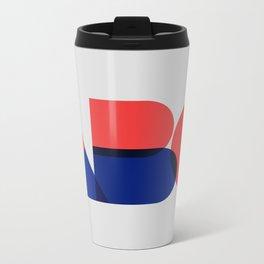 Geometric ABC Metal Travel Mug