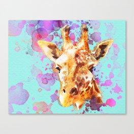 Watercolor Giraffe, Giraffe Animal, Giraffe Painting, Giraffe Art, Giraffe Print, Nursery Giraffe Canvas Print