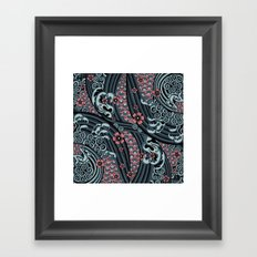 waves of tradition-blue Framed Art Print