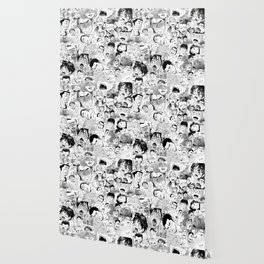 Ahegao Hentai Manga Guys Collage in B&W (Bara/Doujinshi) Wallpaper